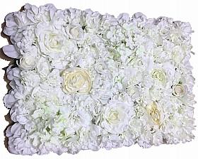 Perete din trandafiri si hortensii artificiale 40x60cm, ivory VF2