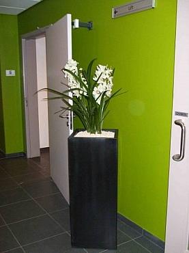 Planta artificiala cu flori in ghiveci Zinc look chinook