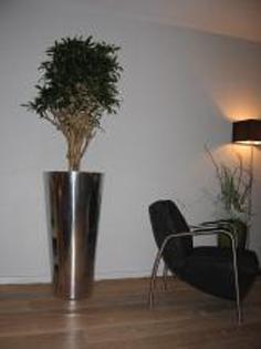 Planta artificiala in ghiveci rotund metalic Partner