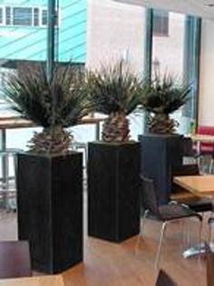 Planta artificiala Palmier in ghiveci Zinc look chinook
