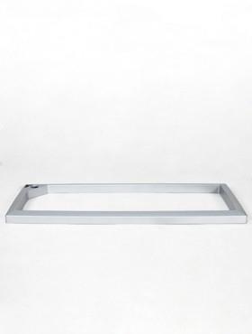 Rama pentru ghiveci Lechuza Cararo 75x30x43 cm argintiu