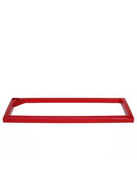 Rama pentru ghiveci Lechuza Cararo 75x30x43 cm, rosu
