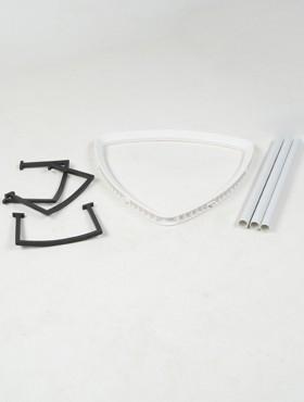 Rama pentru ghiveci Lechuza Delta 30x56 cm, alb