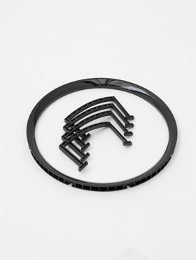 Rama pentru ghiveci Lechuza Rondo 32x56 cm, negru