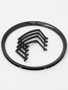 Rama pentru ghiveci Lechuza Rondo 40x75 cm, negru