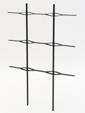 Spalier pentru Jardiniera Lechuza Balconera Cottage Trio 100x32x34 cm negru