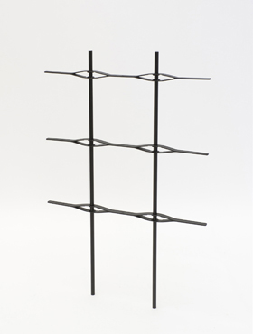 Spalier pentru Jardiniera Lechuza Balconera Cottage Trio 132x42x44 cm negru
