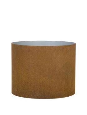 Superline Cortensteel Big Oval pe roti 95x55x90 cm ruginiu