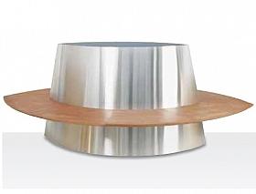 Superline Galileo G3 pe roti cu 8 locuri, fara brate 235x150x97 cm argintiu argintiu