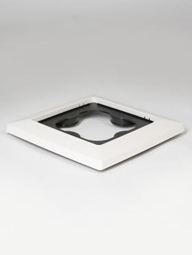 Suport 32x32x4.5 cm pentru ghiveci Lechuza Cubico alb