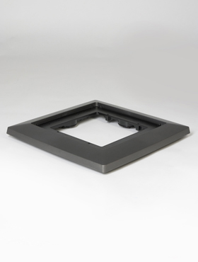 Suport 40x40x4.5 cm pentru ghiveci Lechuza Cubico antracit