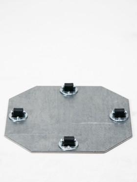 Tava pentru ghivece cu 4 role fixe 19x1.5 cm