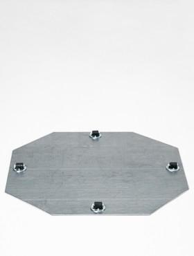 Tava pentru ghivece cu 4 role fixe 39x1.5 cm