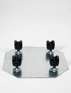 Tava pentru ghivece cu 4 roti Castor 39x7 cm