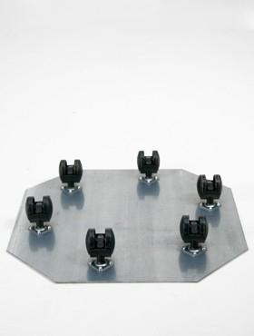 Tava pentru ghivece cu 6 roti Castor 57x7 cm