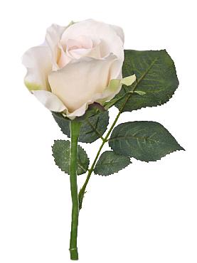 Trandafir Alice de luxe 30 cm alb