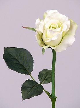 Trandafir Alice de luxe D8x6xH30 cm alb