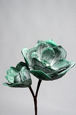 Trandafir Dessert D8x5xH22 cm HO verde