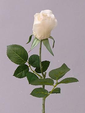 Trandafir Gina D4x5xH35 cm alb