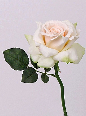 Trandafir Quiannie de luxe D15xH31 cm alb