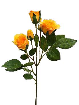 Trandafir tros D4x3x2xH40 cm HO galben