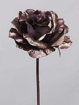 Trandafir Xmas D12xH60 cm maro
