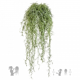 Tufa decorativa Long hair 80 cm verde