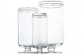 Vaza Hurricane 17x37 cm transparent