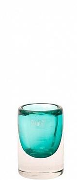 Vaza Massiva Cilinder 9x13 cm albastru lagune