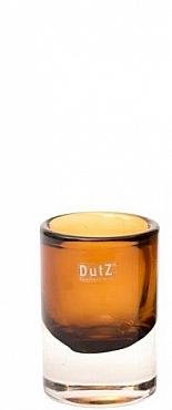 Vaza Massiva Cilinder 9x13 cm maro cognac