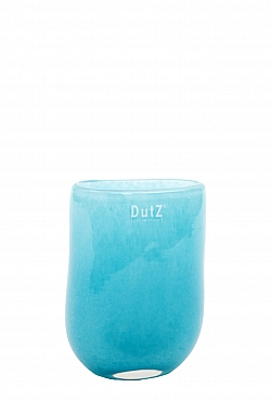 Vaza Ovall 7x11x14 cm albastru aqua
