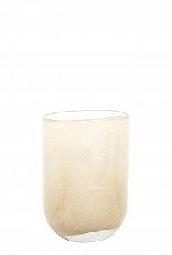 Vaza Ovall 7x11x14 cm crem