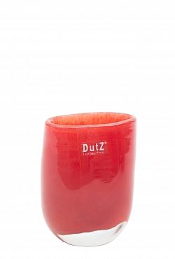 Vaza Ovall 7x11x14 cm rosu