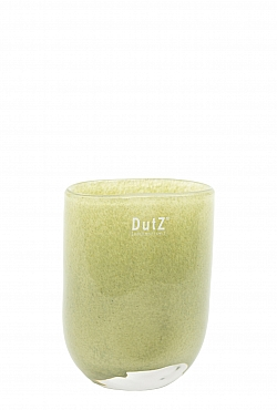 Vaza Ovall 7x11x14 cm verde