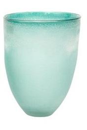 Vaza Patina Conical 25.5x32 cm albastru laguna