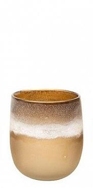 Vaza Patina Round 15.5X18 cm maro cognac