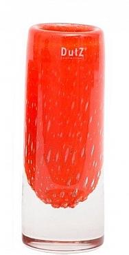 Vaza Thick Cilinder bubble 9x24 cm portocaliu