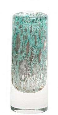 Vaza Thick Cilinder bubble 9x24 cm verde jade