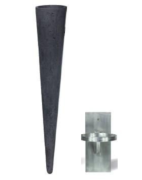 Wall Cone 20x100 cm antracit antracit